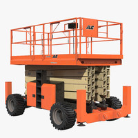 3d model of engine powered scissor lift