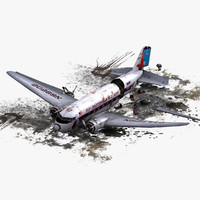 air crash 3 3d model