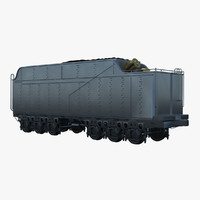 3d model railway coal car