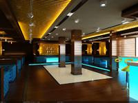 interior scene - lounge 3d max
