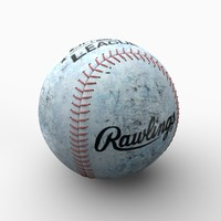 baseball ball 3d 3ds