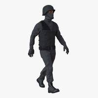 swat man afro american max