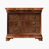 realistic wooden cabinet wood 3d model
