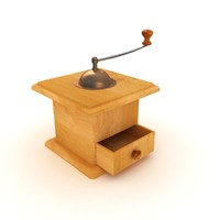 antique coffee grinder 3d model