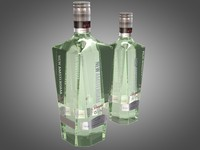 3d model bottles new amsterdam gin