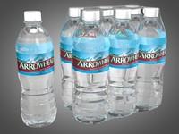3d bottle arrowhead water model