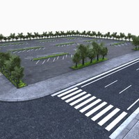 3d parking lot area model