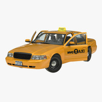 maya generic yellow taxi rigged