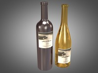 bottles auto moto wine 3d model