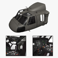 purchase uh-60 blackhawk helicopter cockpit 3d 3ds