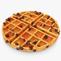 3dsmax realistic waffle raisins