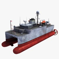 usns impeccable t-agos 23 3d model