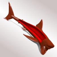 3d sofa shark