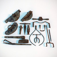 3d assorted coopers tool antique model