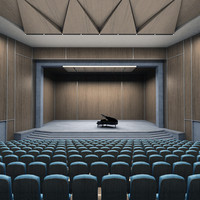 piano theater 3d model