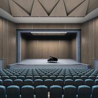 piano theater 3d model