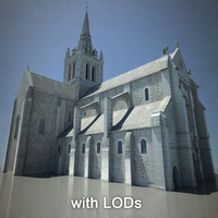 european cathedral lod 3d model