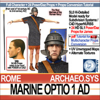 3d ancient roman marine optio