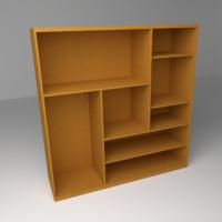 multi level shelf 3d 3ds