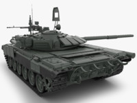 3d t 72 main battle tank model