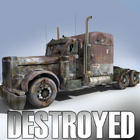Destroyed US Truck