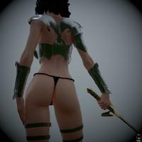 zbrush female character 3d obj