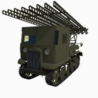 soviet katyusha rocket launcher 3d max