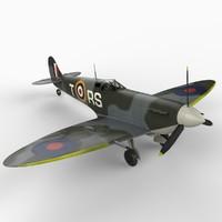 3d supermarine spitfire mk v model
