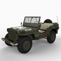 willy jeep 3d lwo