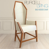 bias hooded chair purcell 3d model