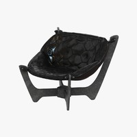 chair eaton black grain 3d model