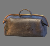 3d old travel case model