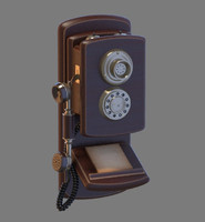 3d model old phone