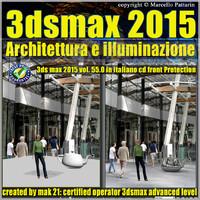 3ds max 2015 Architettura e illuminazione vol 55 cd front