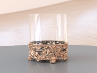 baroque whiskey glass 3d obj
