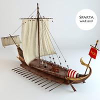 3d model warship