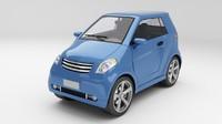 generic smart car m 3d model