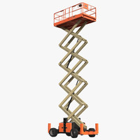 Engine Powered Scissor Lift JLG 5394RT Rigged