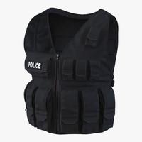 3d model swat vest 2