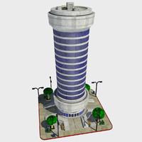 - cartoon building tile 3d max