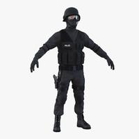 3d swat man