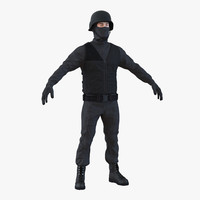 3d model swat man mediterranean 3