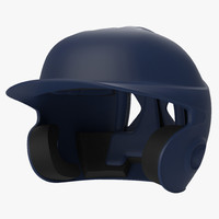 batting helmet 3 generic 3d model