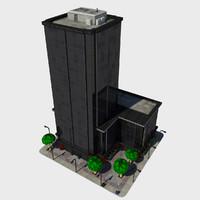 3dsmax - cartoon building tile