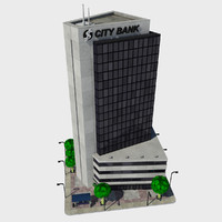 3d model - cartoon building tile
