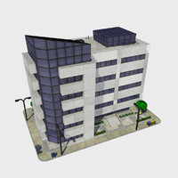 3d - cartoon building tile