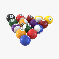 billiard balls obj