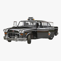 checker cab rigged 3d max