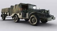 dodge truck wc 2 3d obj
