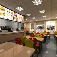 3dsmax restaurant fast food